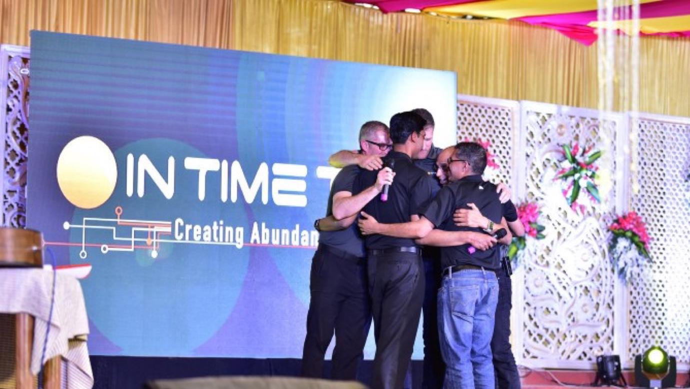 founders hugging